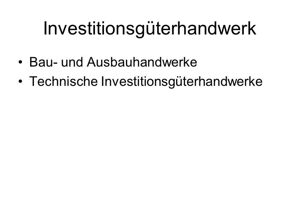 Investitionsgüterhandwerk