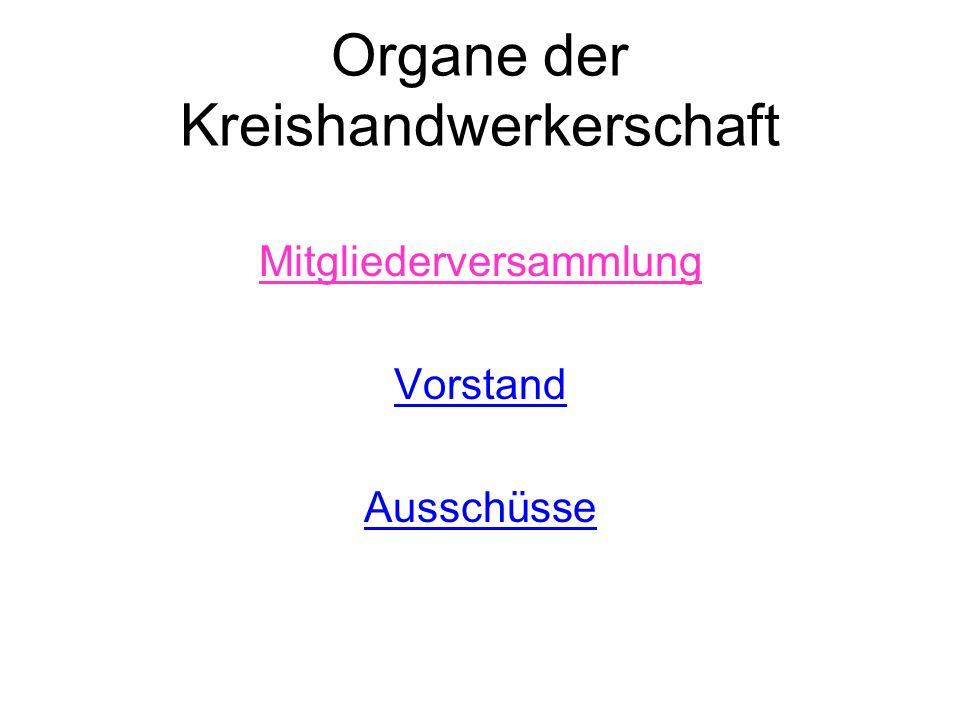 Organe der Kreishandwerkerschaft