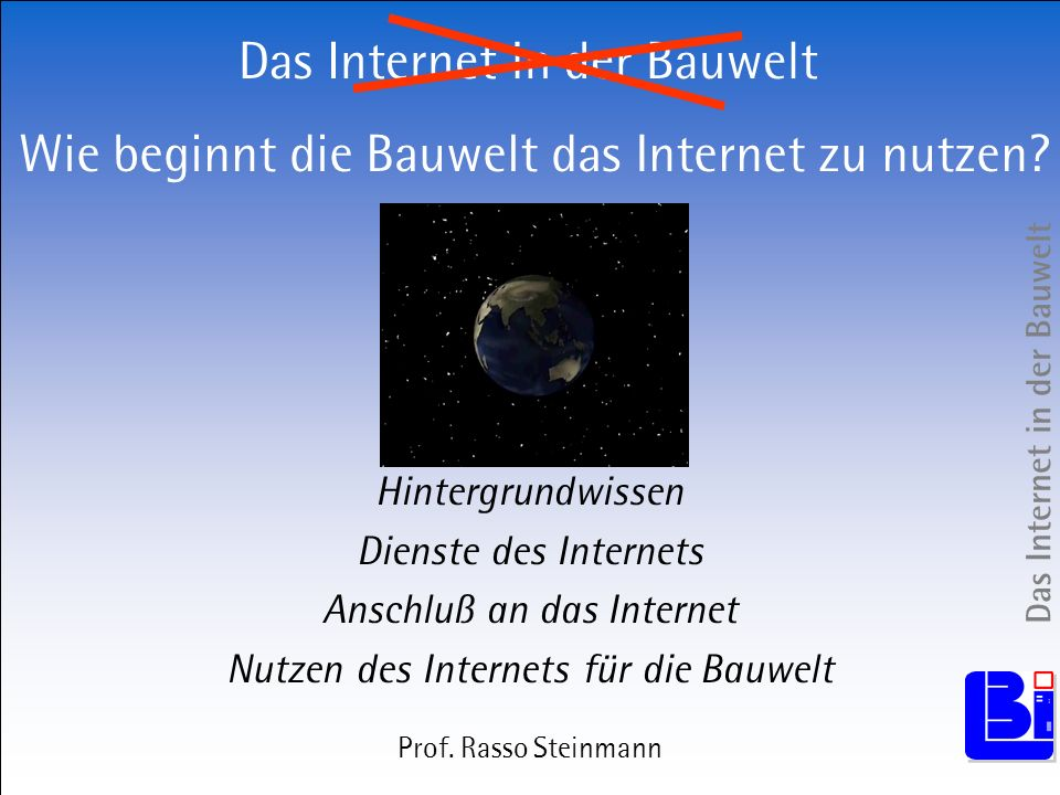 Das Internet in der Bauwelt