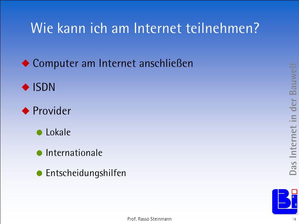 Wie kann ich am Internet teilnehmen