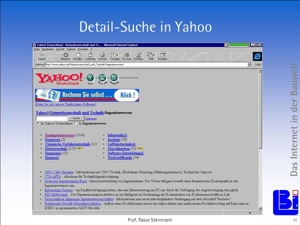 Detail-Suche in Yahoo Prof. Rasso Steinmann Prof. Rasso Steinmann