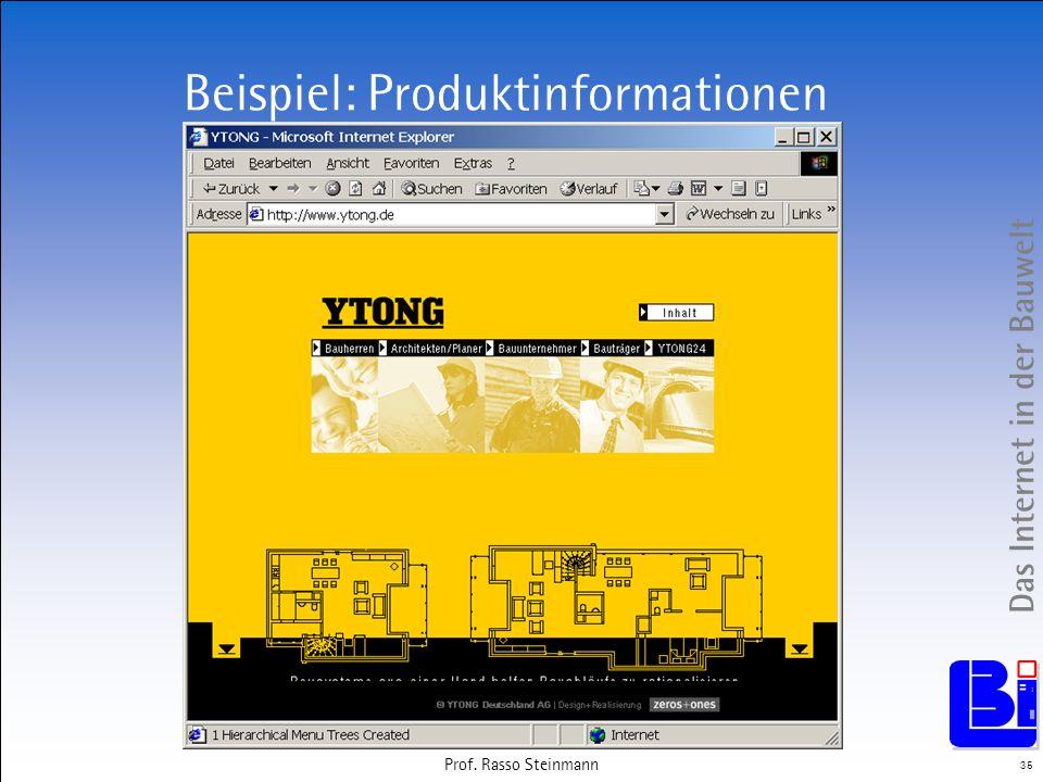 Beispiel: Produktinformationen