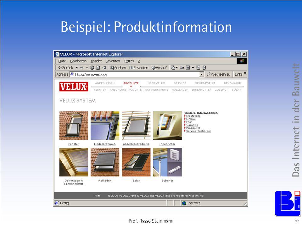 Beispiel: Produktinformation