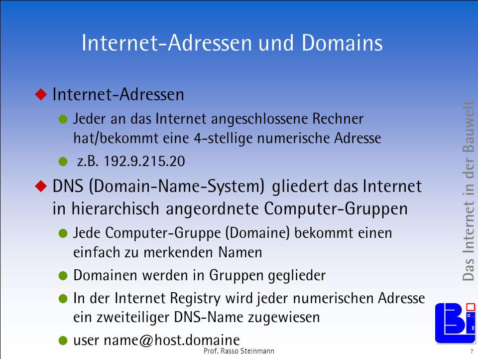 Internet-Adressen und Domains
