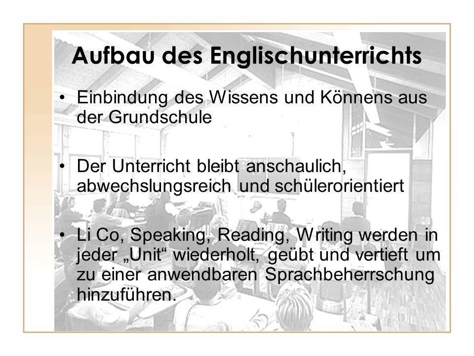 Aufbau des Englischunterrichts