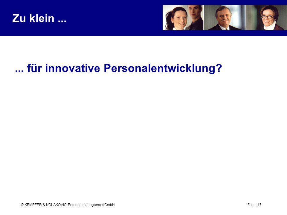 ... für innovative Personalentwicklung