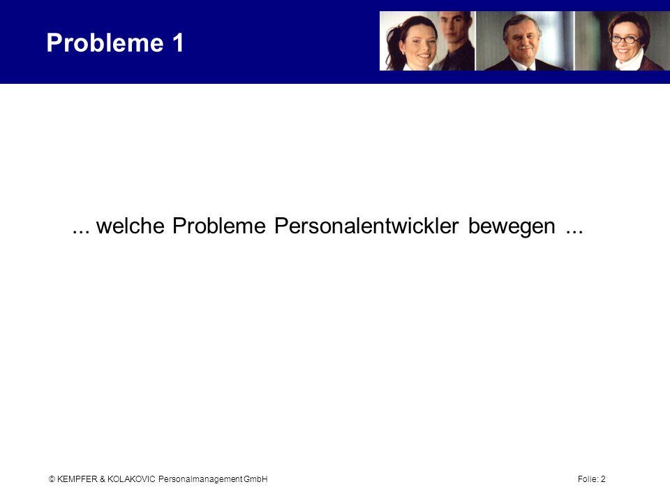 ... welche Probleme Personalentwickler bewegen ...