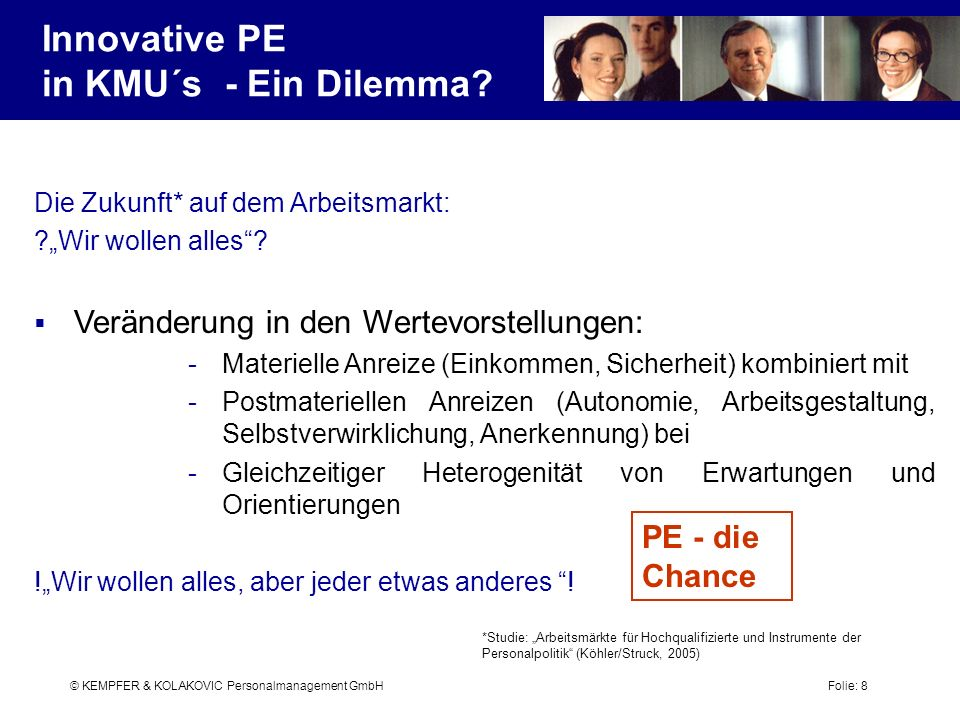 Innovative PE in KMU´s - Ein Dilemma