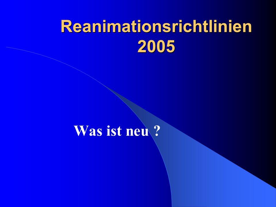 Reanimationsrichtlinien 2005