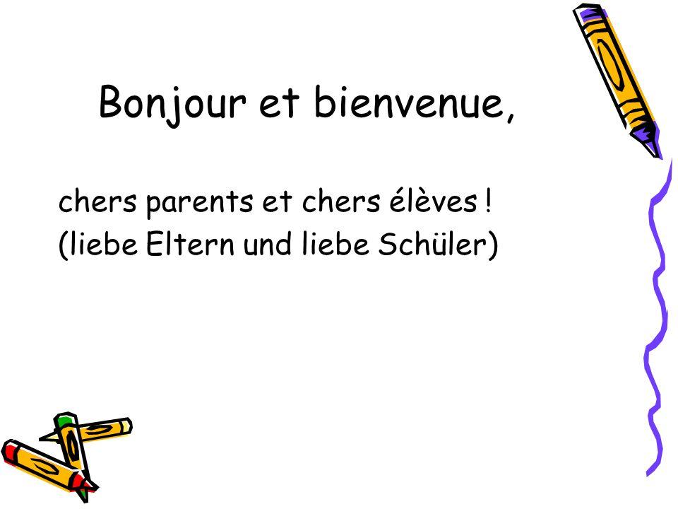 Bonjour et bienvenue, chers parents et chers élèves !