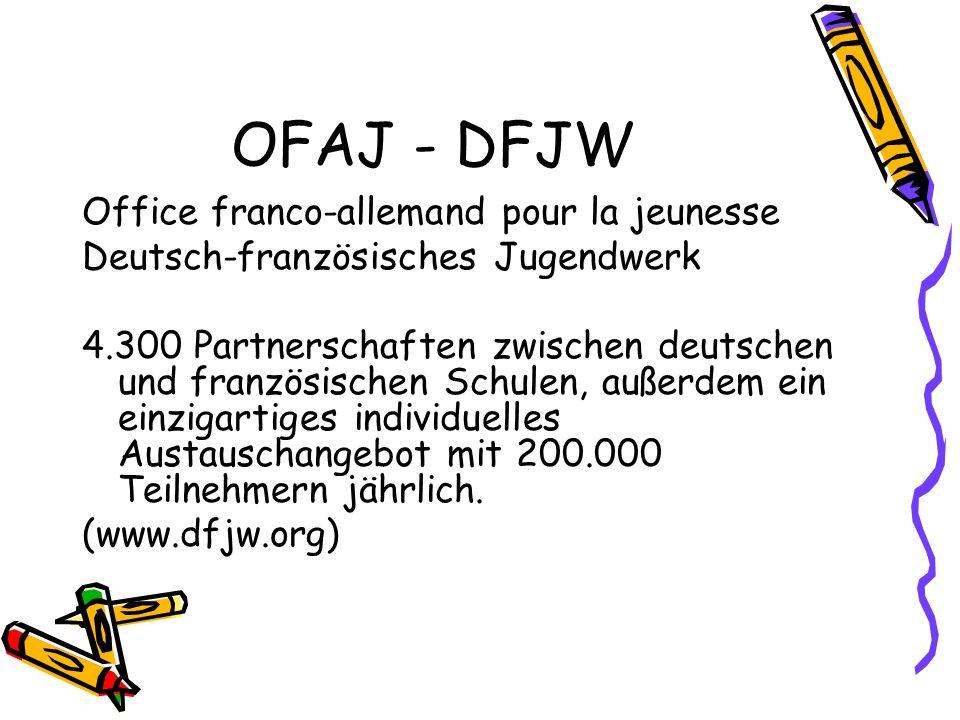 OFAJ - DFJW Office franco-allemand pour la jeunesse