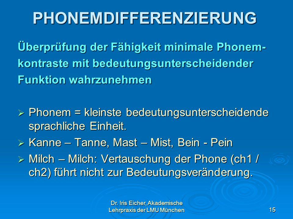 PHONEMDIFFERENZIERUNG