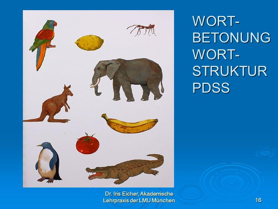 WORT-BETONUNG WORT- STRUKTUR PDSS