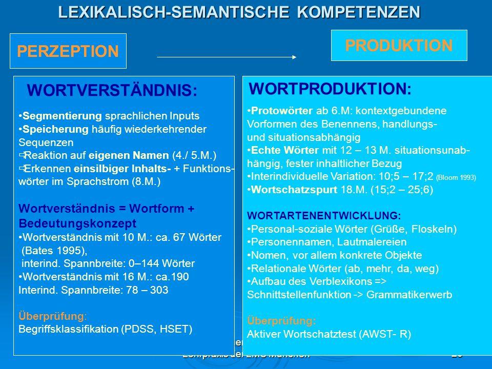LEXIKALISCH-SEMANTISCHE KOMPETENZEN
