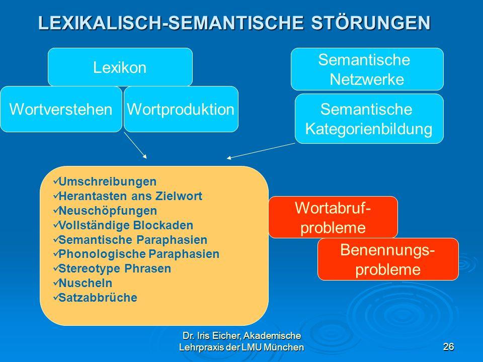 LEXIKALISCH-SEMANTISCHE STÖRUNGEN