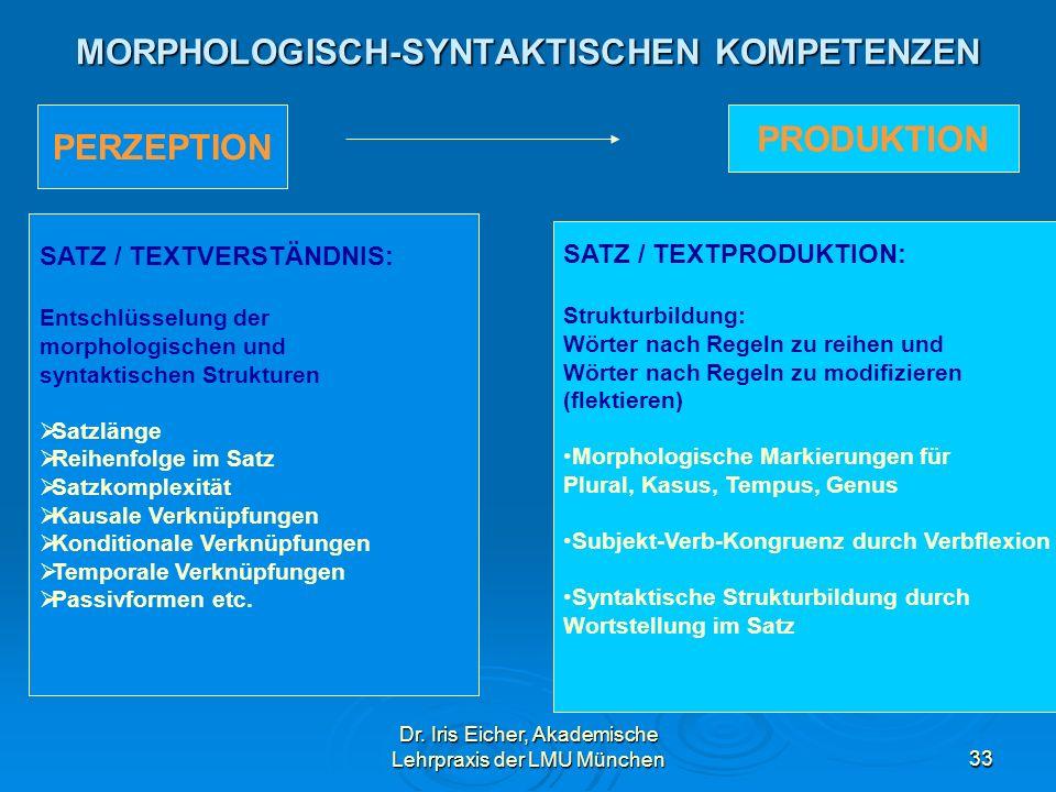 MORPHOLOGISCH-SYNTAKTISCHEN KOMPETENZEN