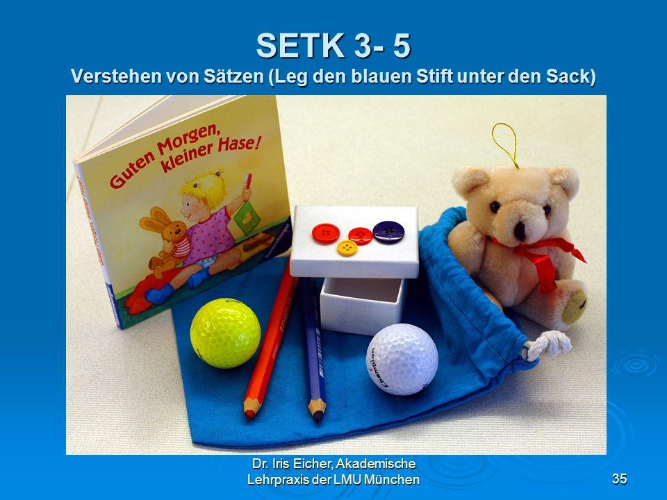 SETK 3- 5 Verstehen von Sätzen (Leg den blauen Stift unter den Sack)