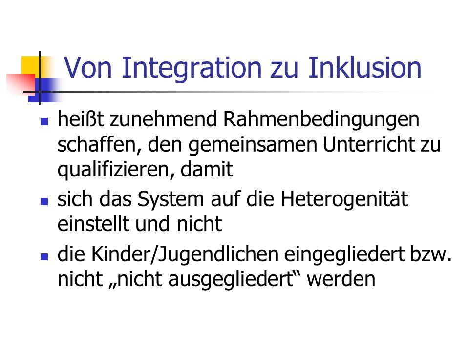 Von Integration zu Inklusion