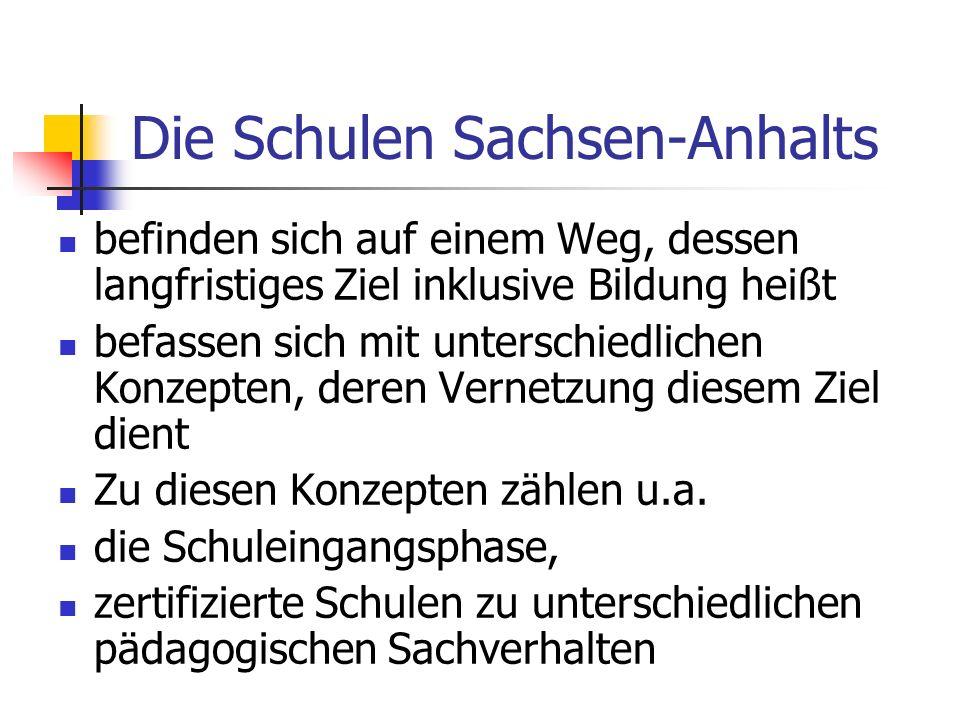 Die Schulen Sachsen-Anhalts