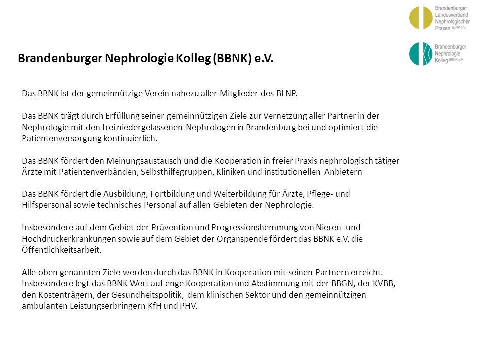 BBGN Brandenburger Nephrologie Kolleg (BBNK) e.V.