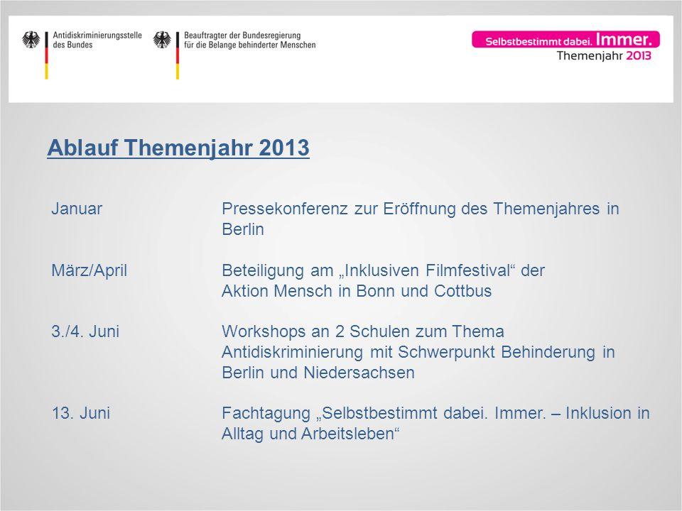Ablauf Themenjahr 2013 Januar Pressekonferenz zur Eröffnung des Themenjahres in Berlin.