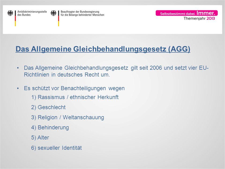 Das Allgemeine Gleichbehandlungsgesetz (AGG)