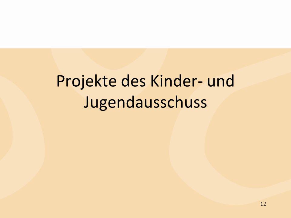 Projekte des Kinder- und Jugendausschuss