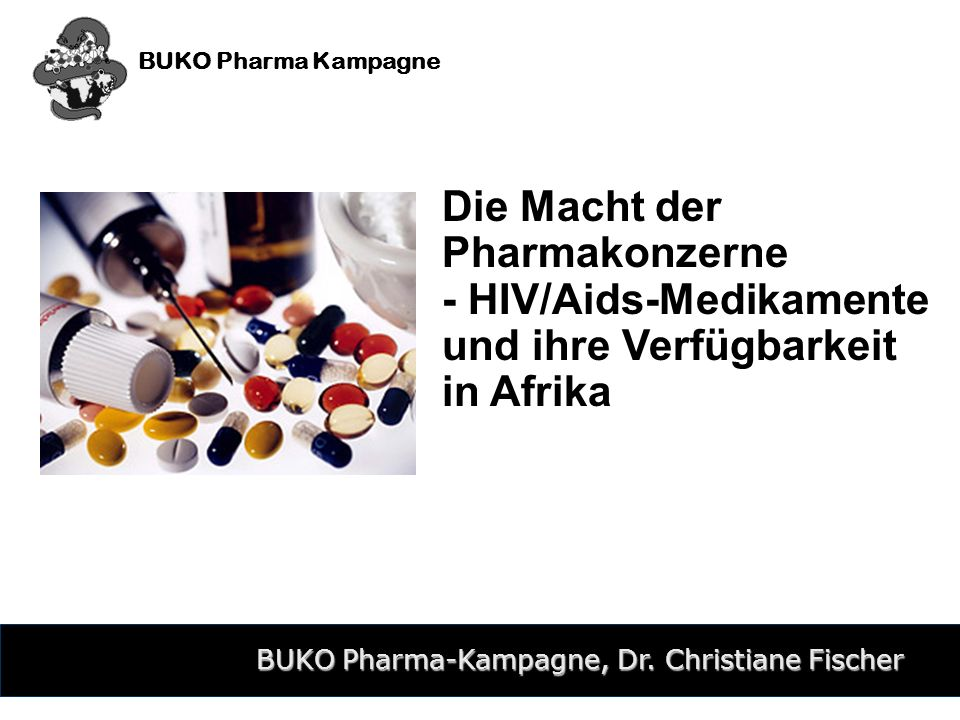 BUKO Pharma-Kampagne, Dr. Christiane Fischer