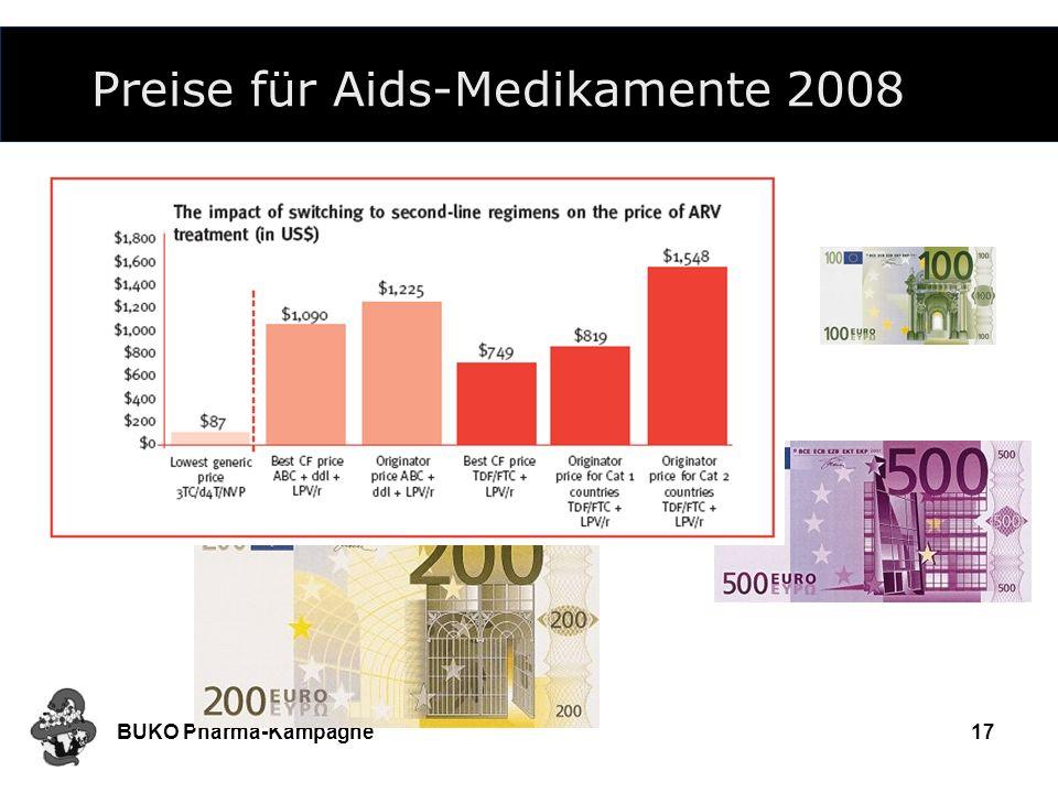 Preise für Aids-Medikamente 2008