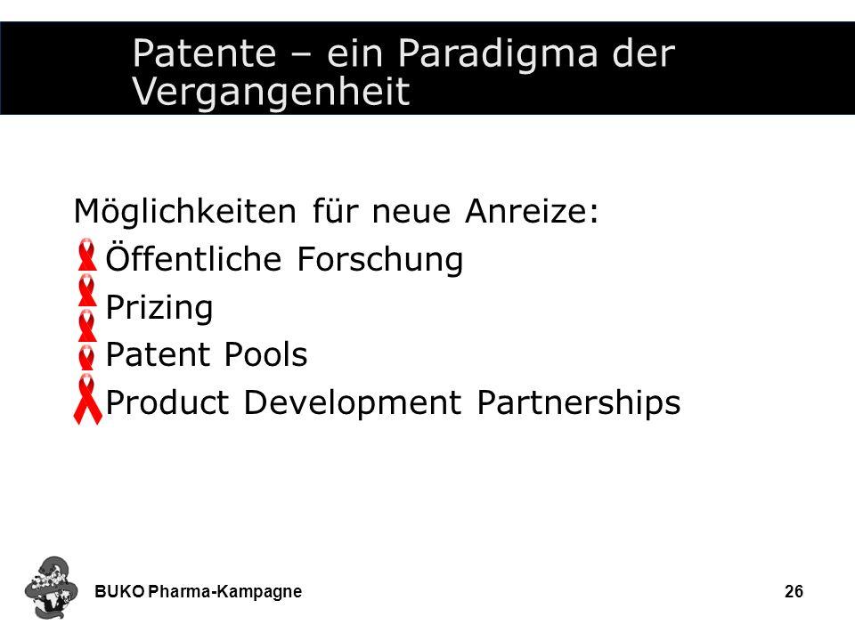 Patente – ein Paradigma der Vergangenheit