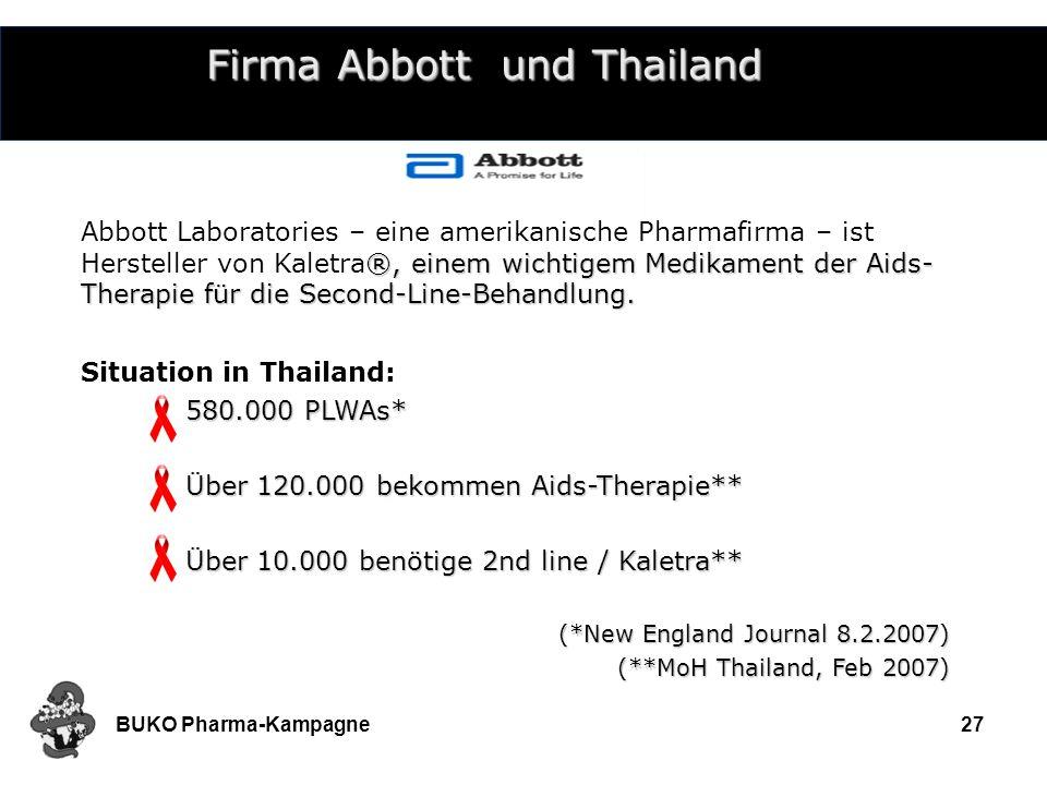 Firma Abbott und Thailand