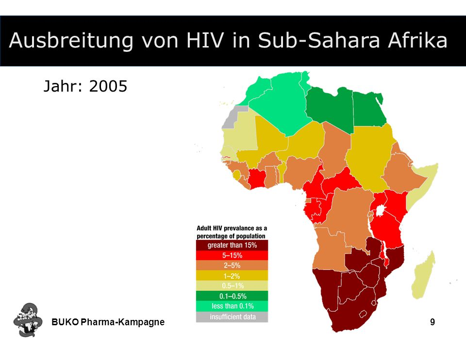 Ausbreitung von HIV in Sub-Sahara Afrika