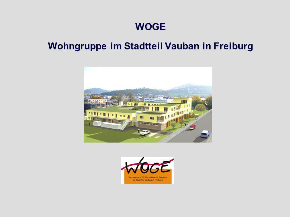 WOGE Wohngruppe im Stadtteil Vauban in Freiburg