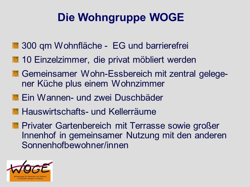 Die Wohngruppe WOGE 300 qm Wohnfläche - EG und barrierefrei