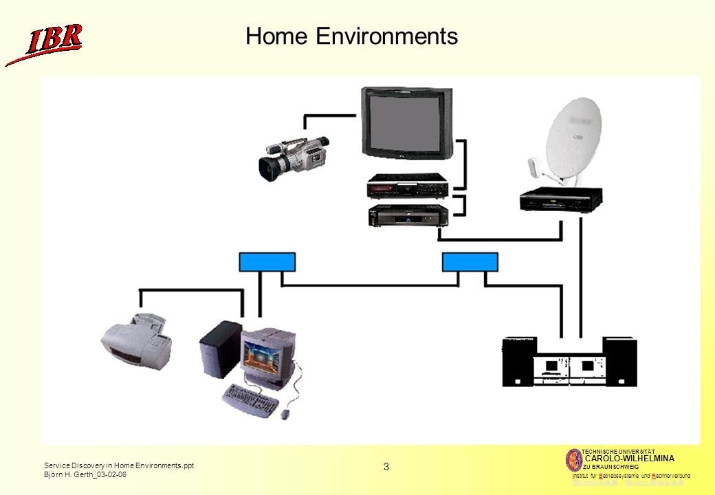 Home Environments Lots of electronic appliances with microprocessors