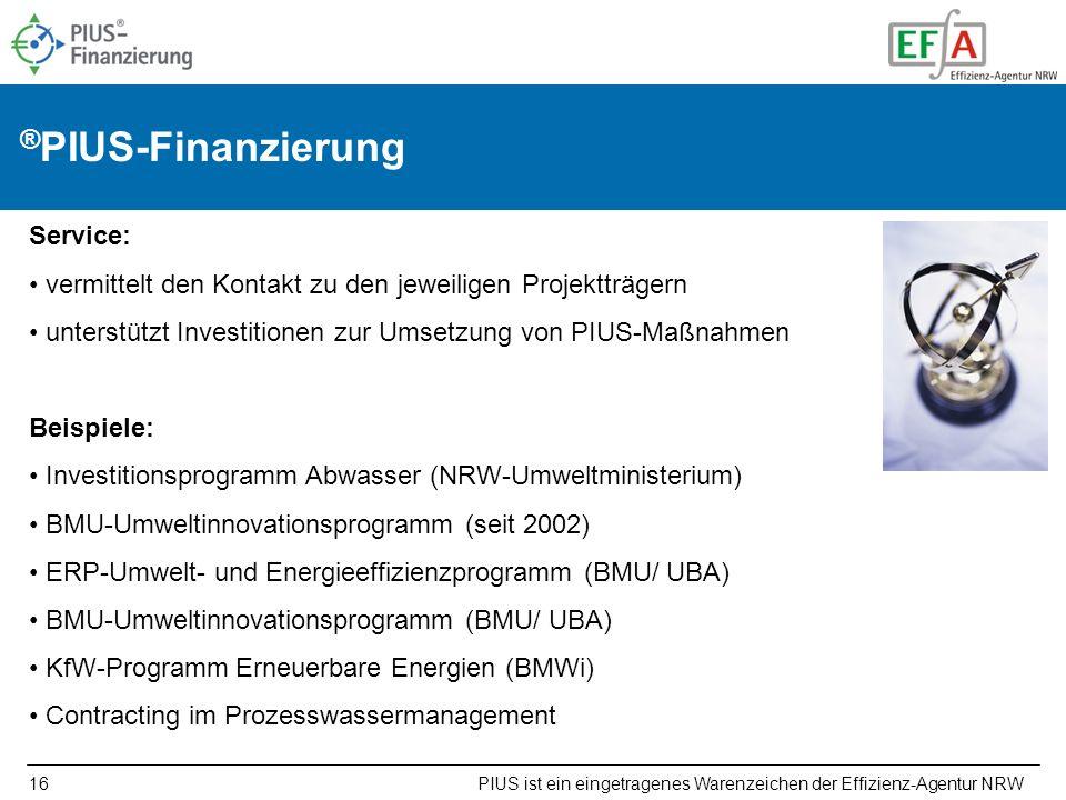 PIUS ist ein eingetragenes Warenzeichen der Effizienz-Agentur NRW