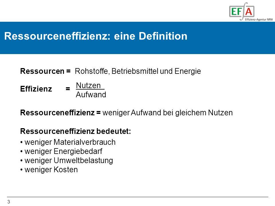 Ressourceneffizienz: eine Definition