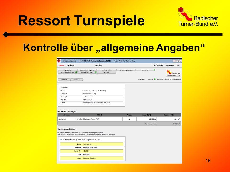 """Kontrolle über """"allgemeine Angaben"""