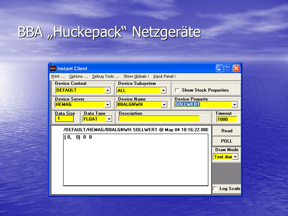 "BBA ""Huckepack Netzgeräte"