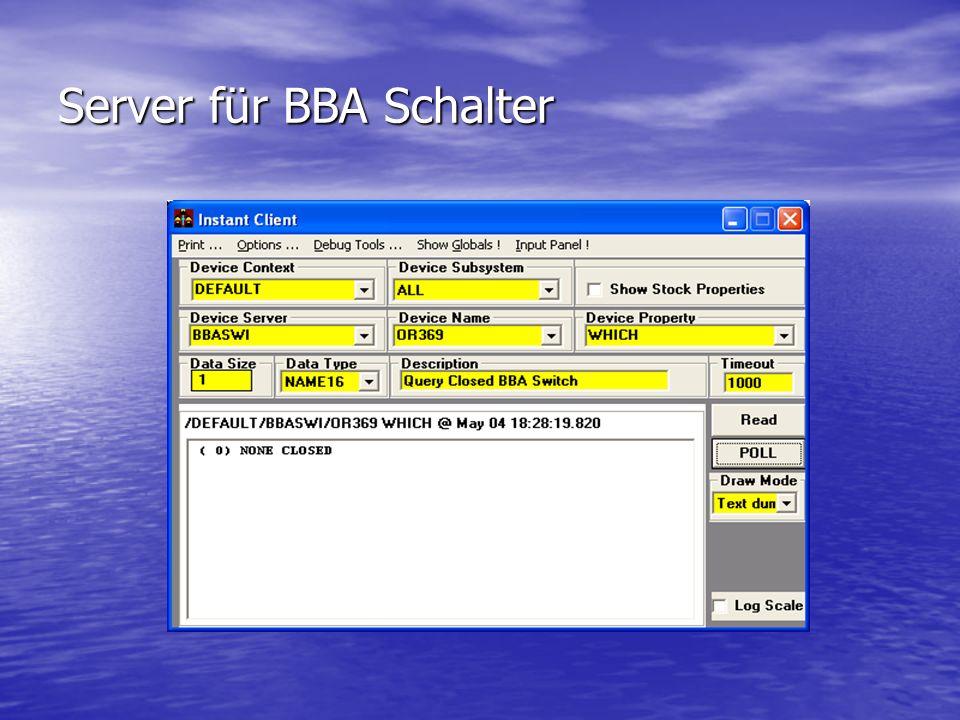 Server für BBA Schalter