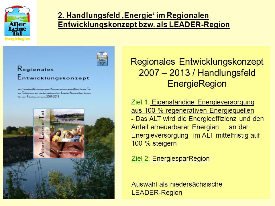 2. Handlungsfeld 'Energie' im Regionalen Entwicklungskonzept bzw