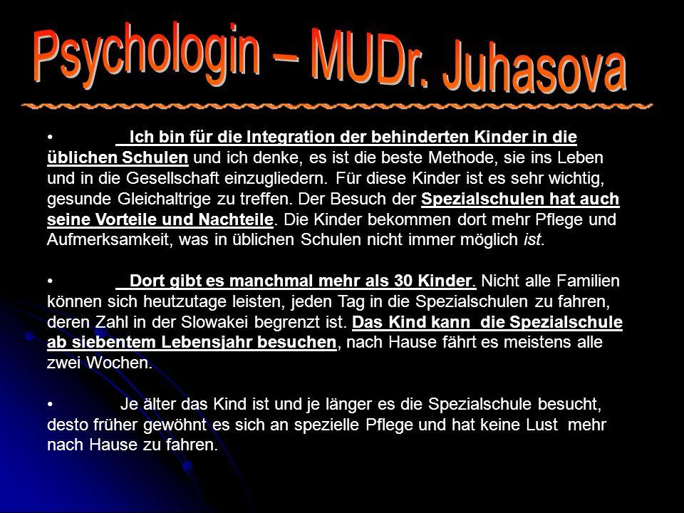 Psychologin – MUDr. Juhasova