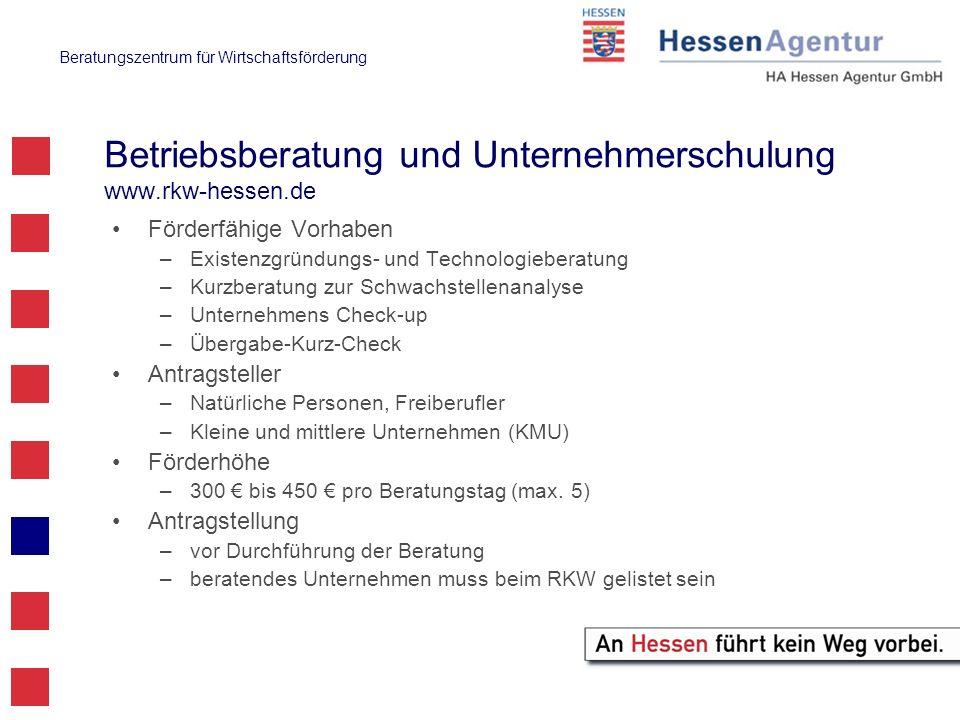 Betriebsberatung und Unternehmerschulung www.rkw-hessen.de