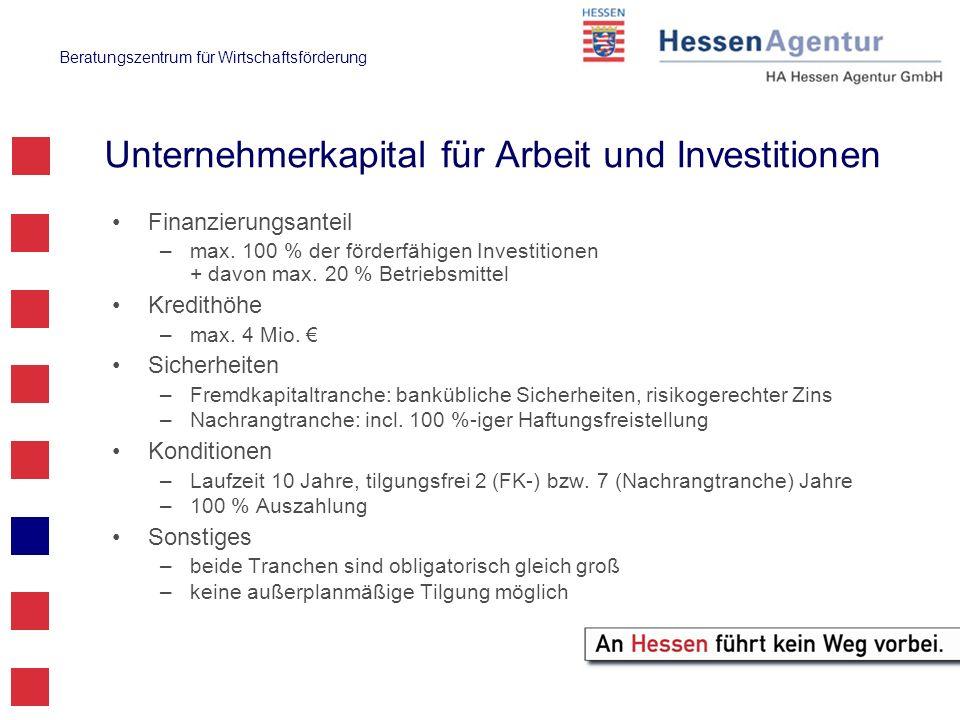 Unternehmerkapital für Arbeit und Investitionen