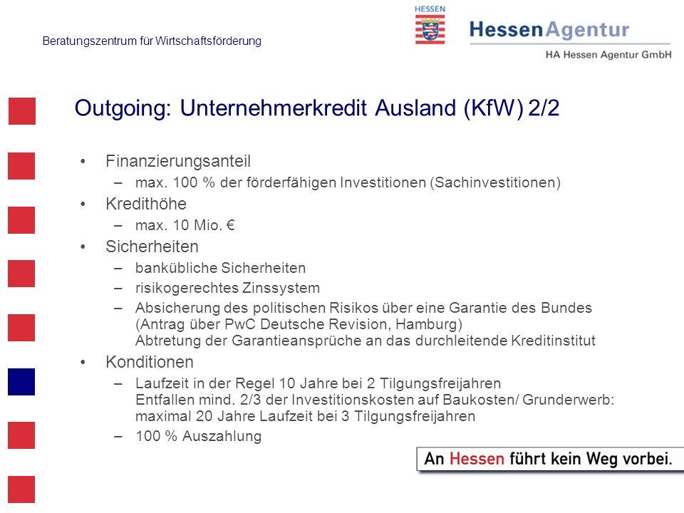 Outgoing: Unternehmerkredit Ausland (KfW) 2/2