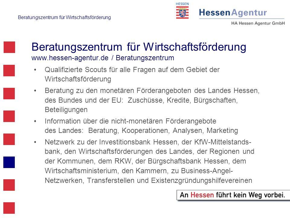 Beratungszentrum für Wirtschaftsförderung www. hessen-agentur