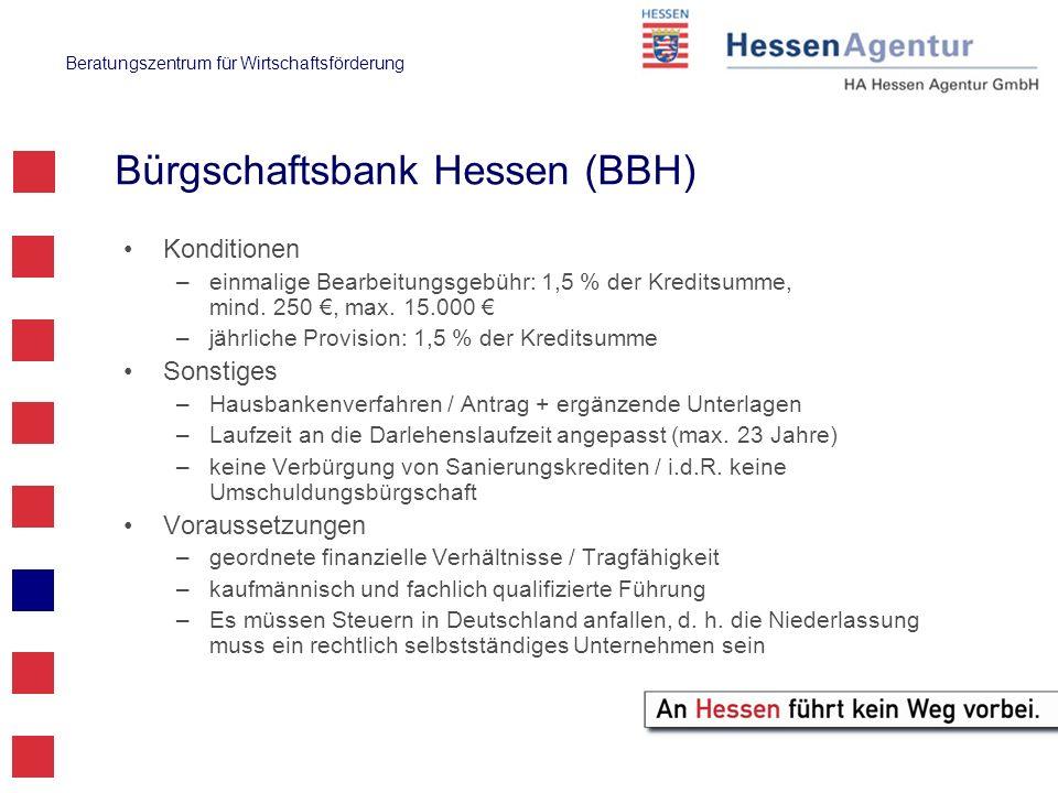 Bürgschaftsbank Hessen (BBH)