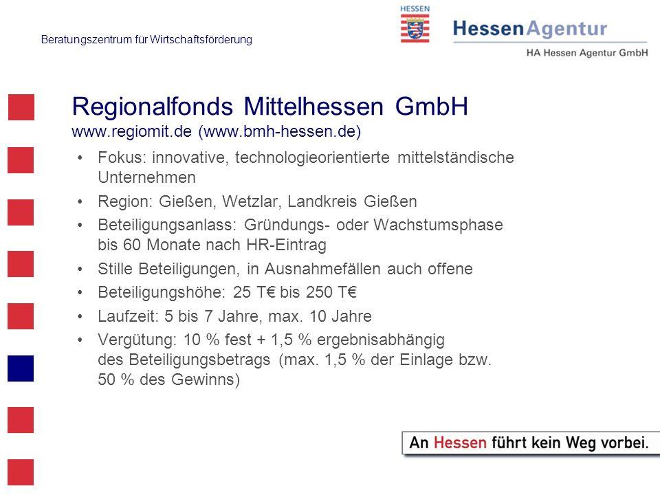 Regionalfonds Mittelhessen GmbH www.regiomit.de (www.bmh-hessen.de)