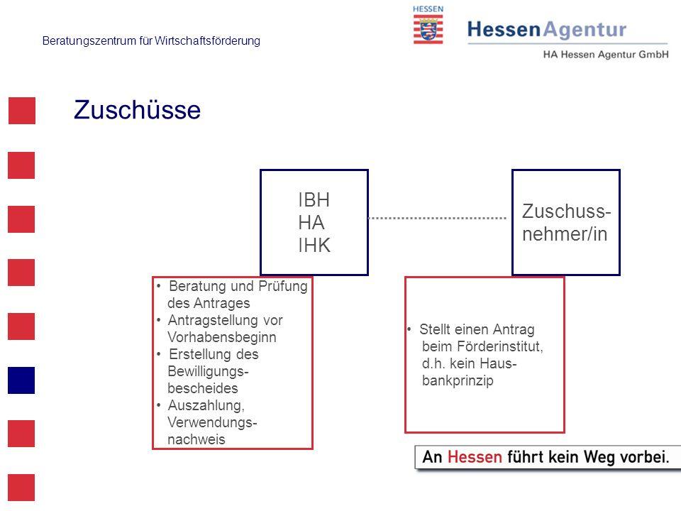 Zuschüsse IBH Zuschuss-nehmer/in HA IHK Beratung und Prüfung
