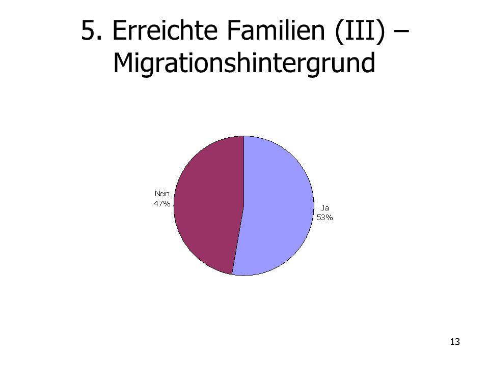 5. Erreichte Familien (III) – Migrationshintergrund